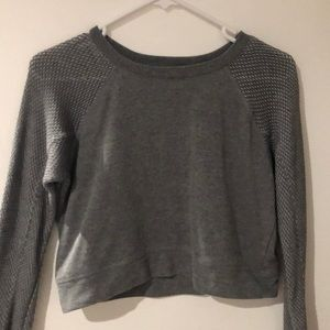 Gray Long-Sleeve w Mesh Sleeves